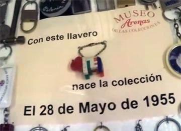 MUSEO DEL LAPIZ primer llavero de la coleccion de emilio arenas, colonia, uruguay