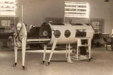 foto de un Pulmotor fabricado en  argentina, Epidemia de Polio en argentina 1956
