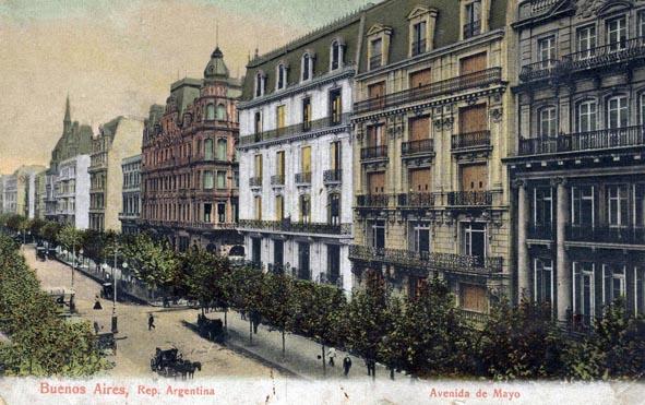 Postal Avenida de Mayo Buenos Aires