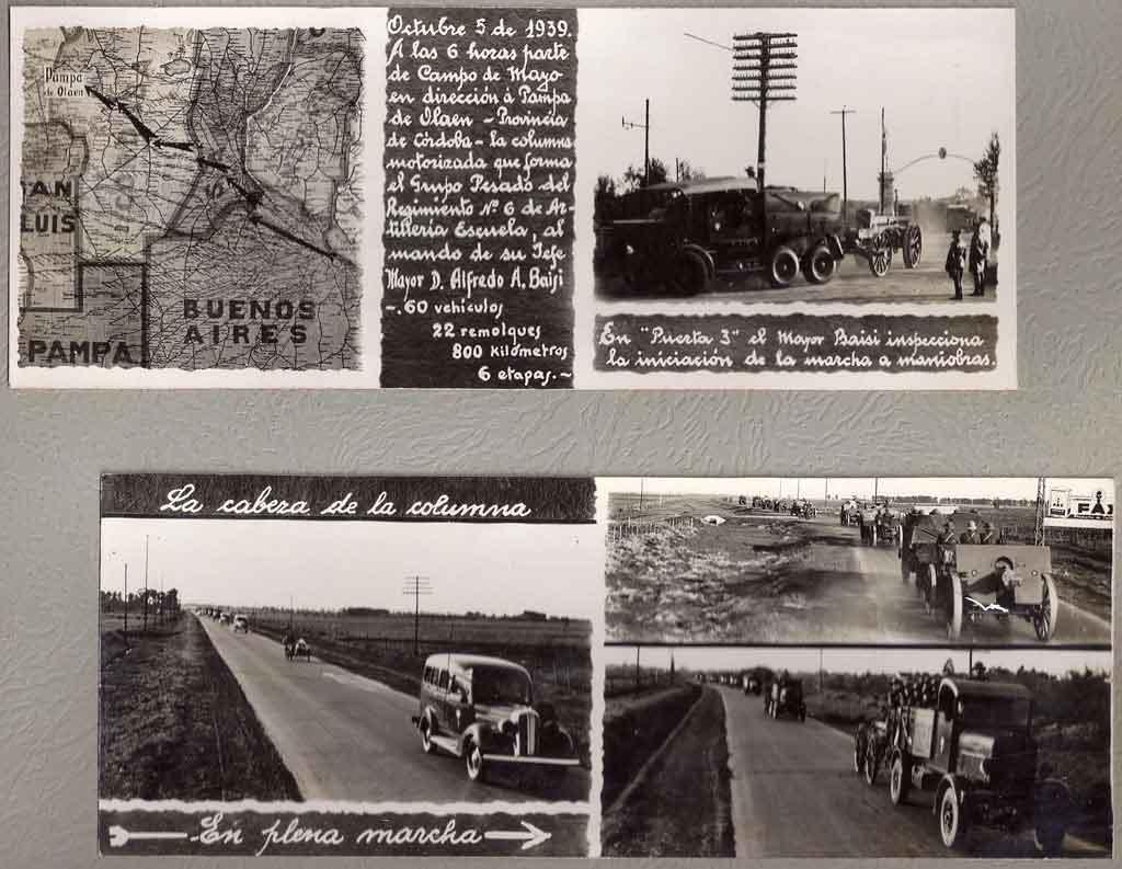 Marcha a Maniobras Militares año 1939