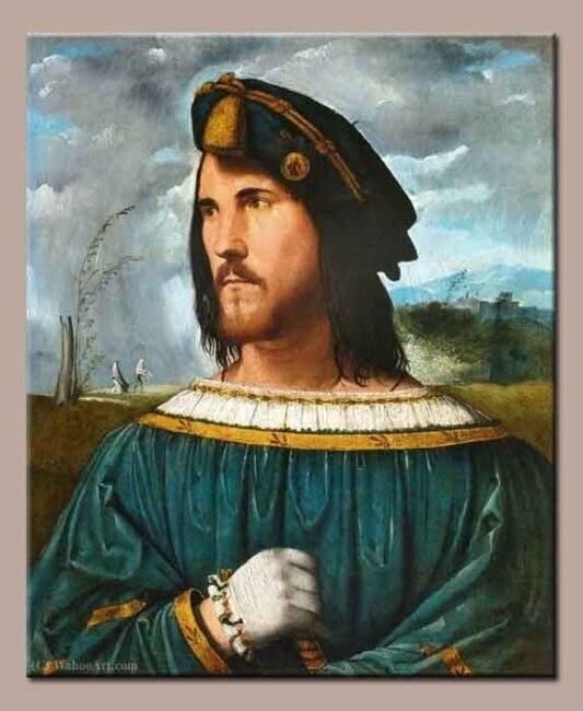 Cesare Borgia as Jesus